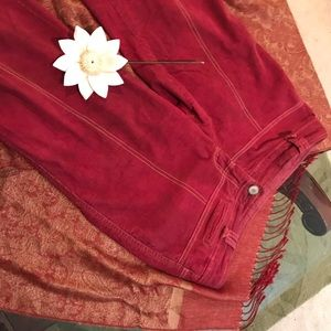 Vintage Free People burgundy chords 8